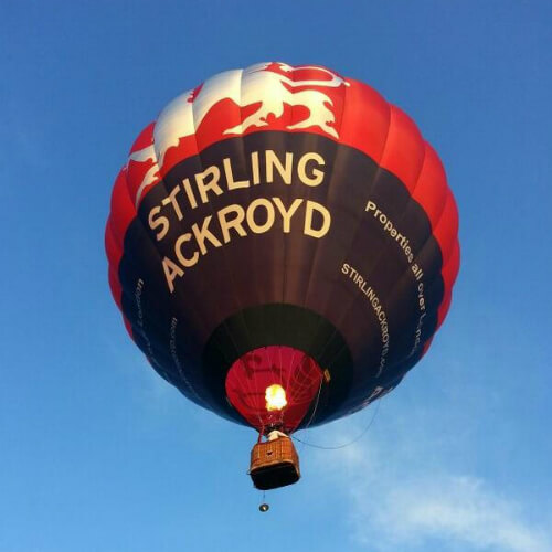 Stirling Ackroyd hot air balloon