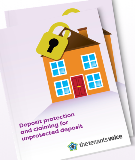 Deposit protection and claiming for unprotected deposits - eguide cover page image